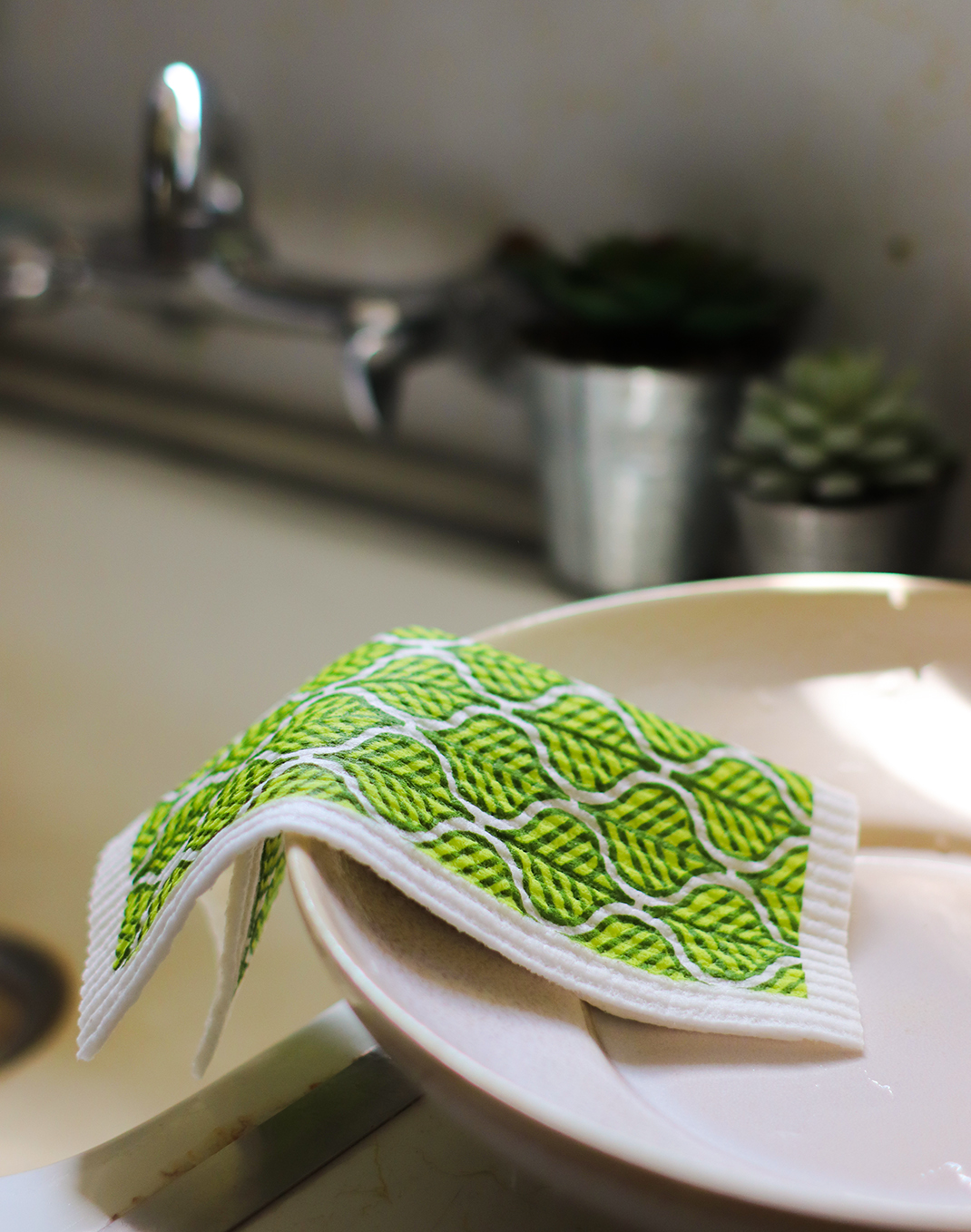 Swedish Dishcloth – Leaves