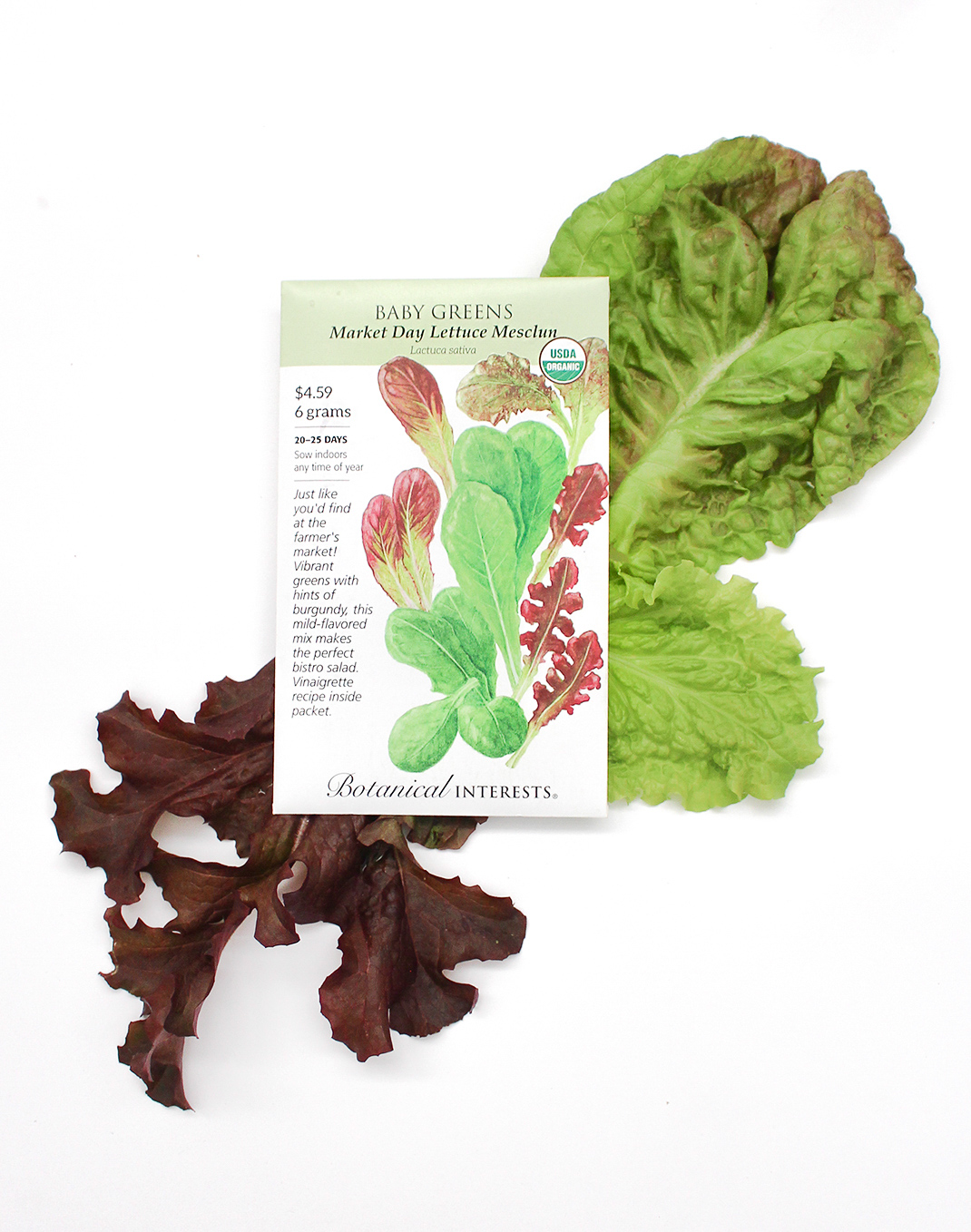 Botanical Interests® 'Market Day' Baby Greens Mesclun Seeds