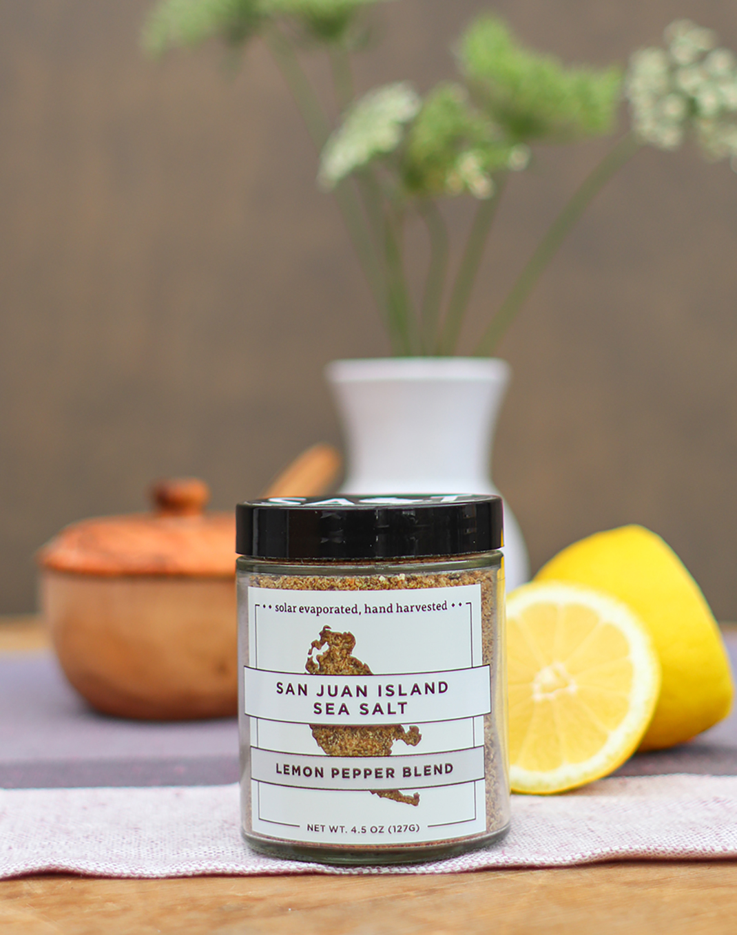 San Juan Island Sea Salt Lemon Pepper Blend