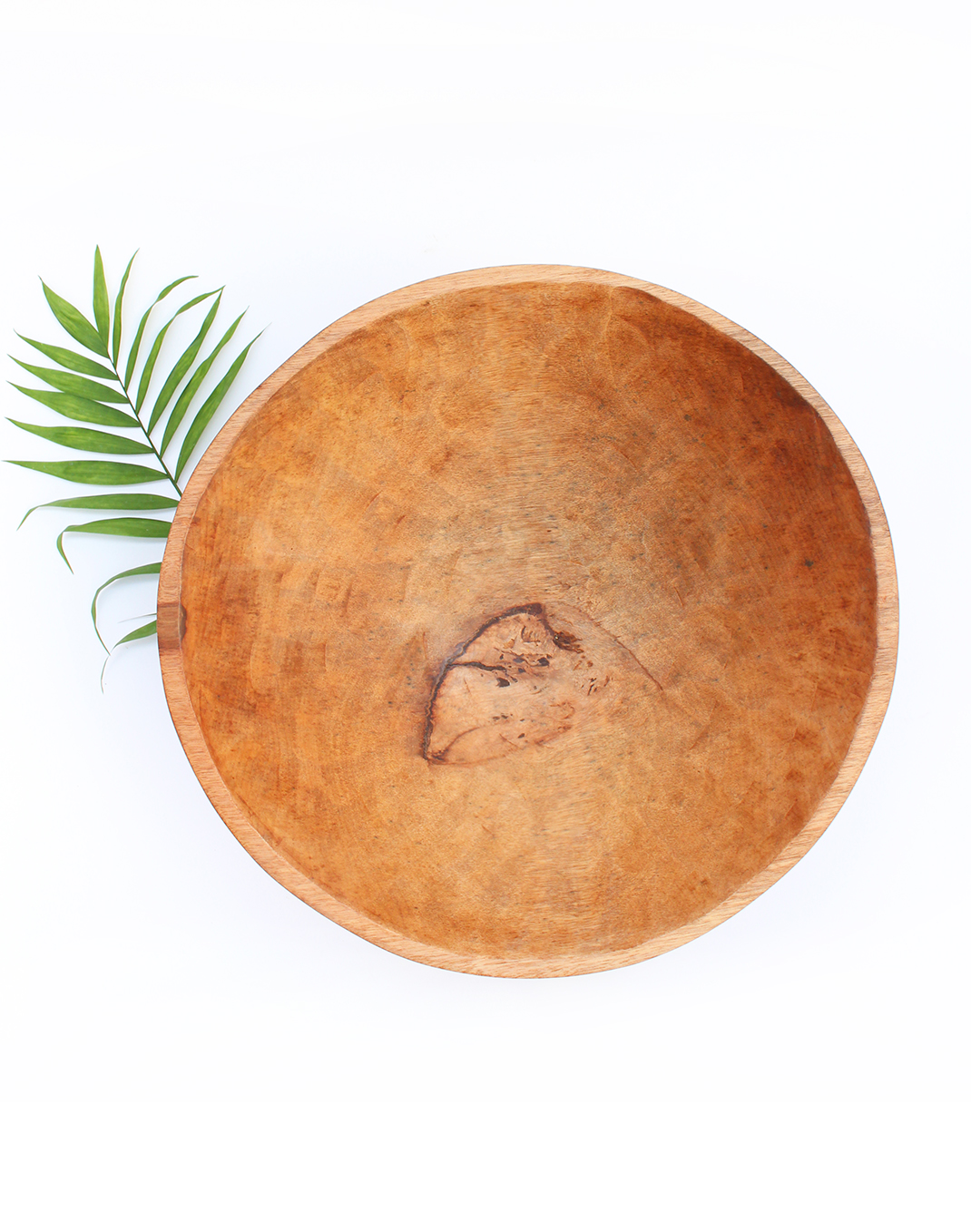 Hand-carved Wood Serving Bowl - 20 in.