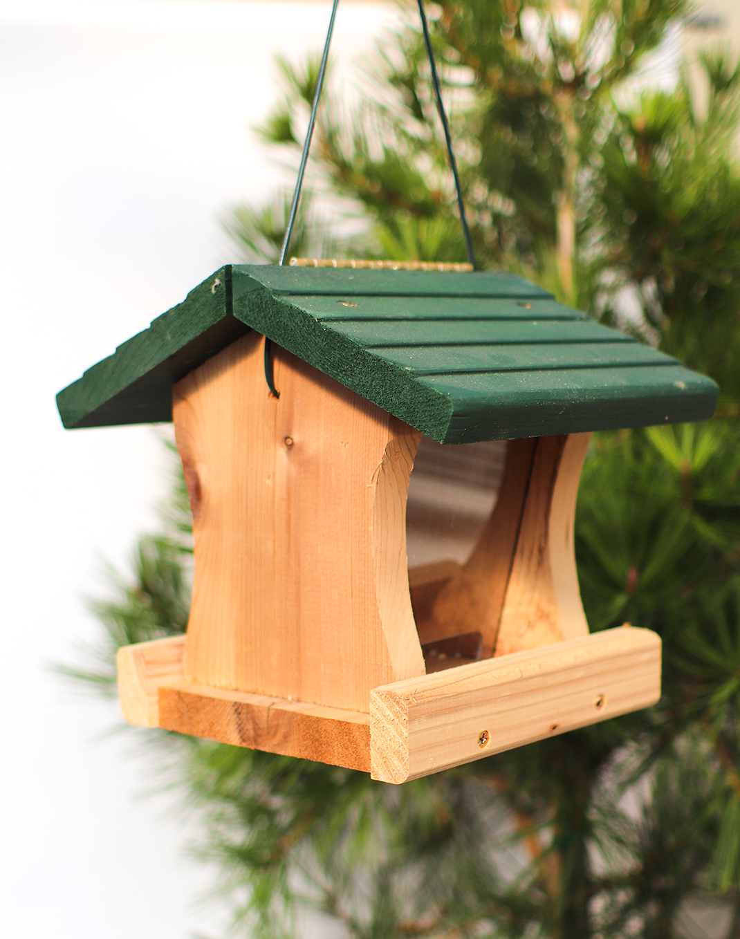 Cedar Bird Feeder Green Roof