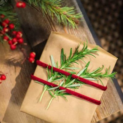 Holiday Gift Wrapping - Sprig of Rosemary - Molbak's Garden + Home