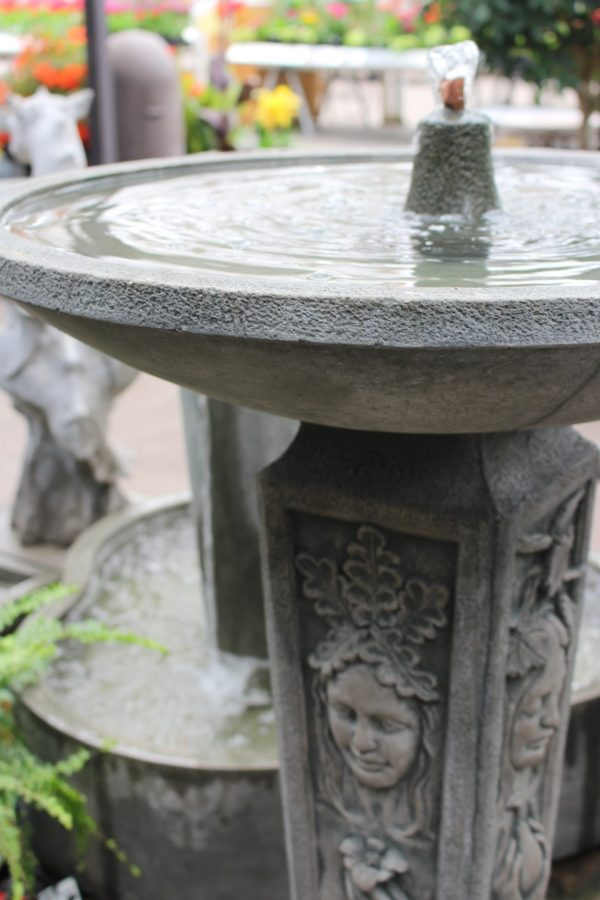 Backyard water fountains at Molbaks - for birds and people!