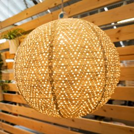 Ourdoor lighting for backyards and porches for summer living at Molbak's Garden + Home