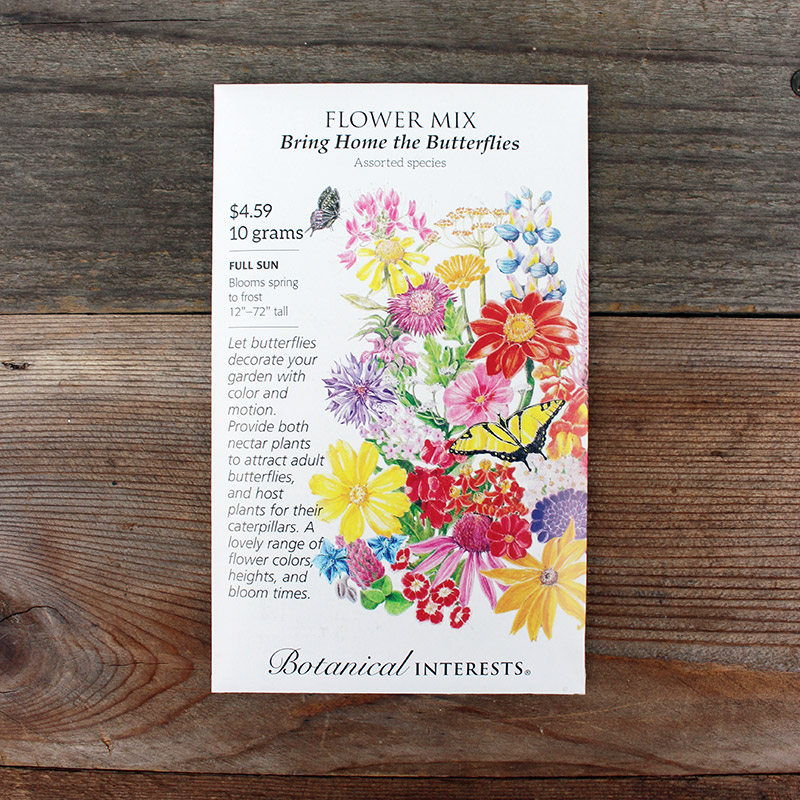 Butterfly Flower Seed Mix Packet