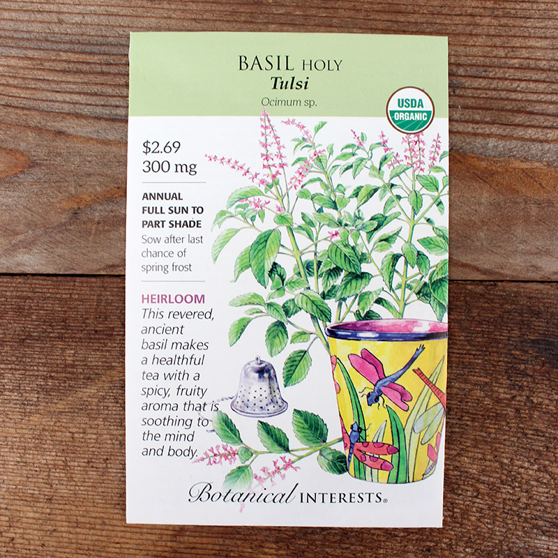 Basil Seed Packet 'Holy'