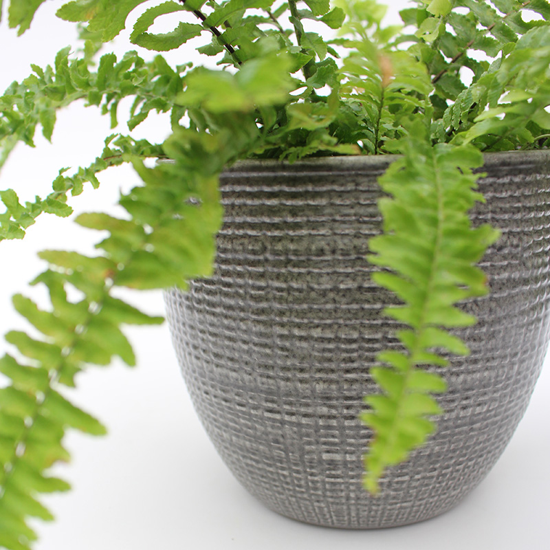 Stone Grey Indoor Planter
