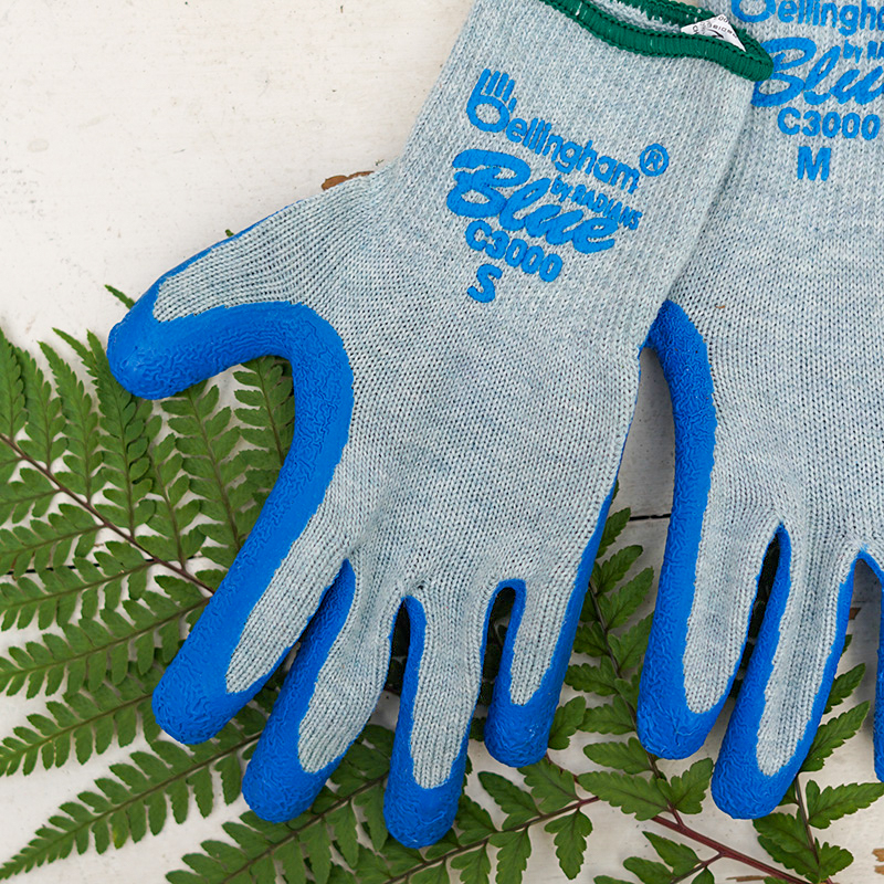 Blue Knit Work Glove - S