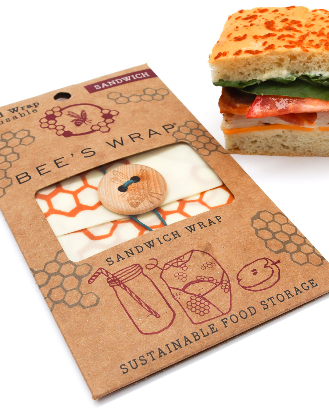 Bee's Wrap® Sandwich Wrap - Honeycomb Print