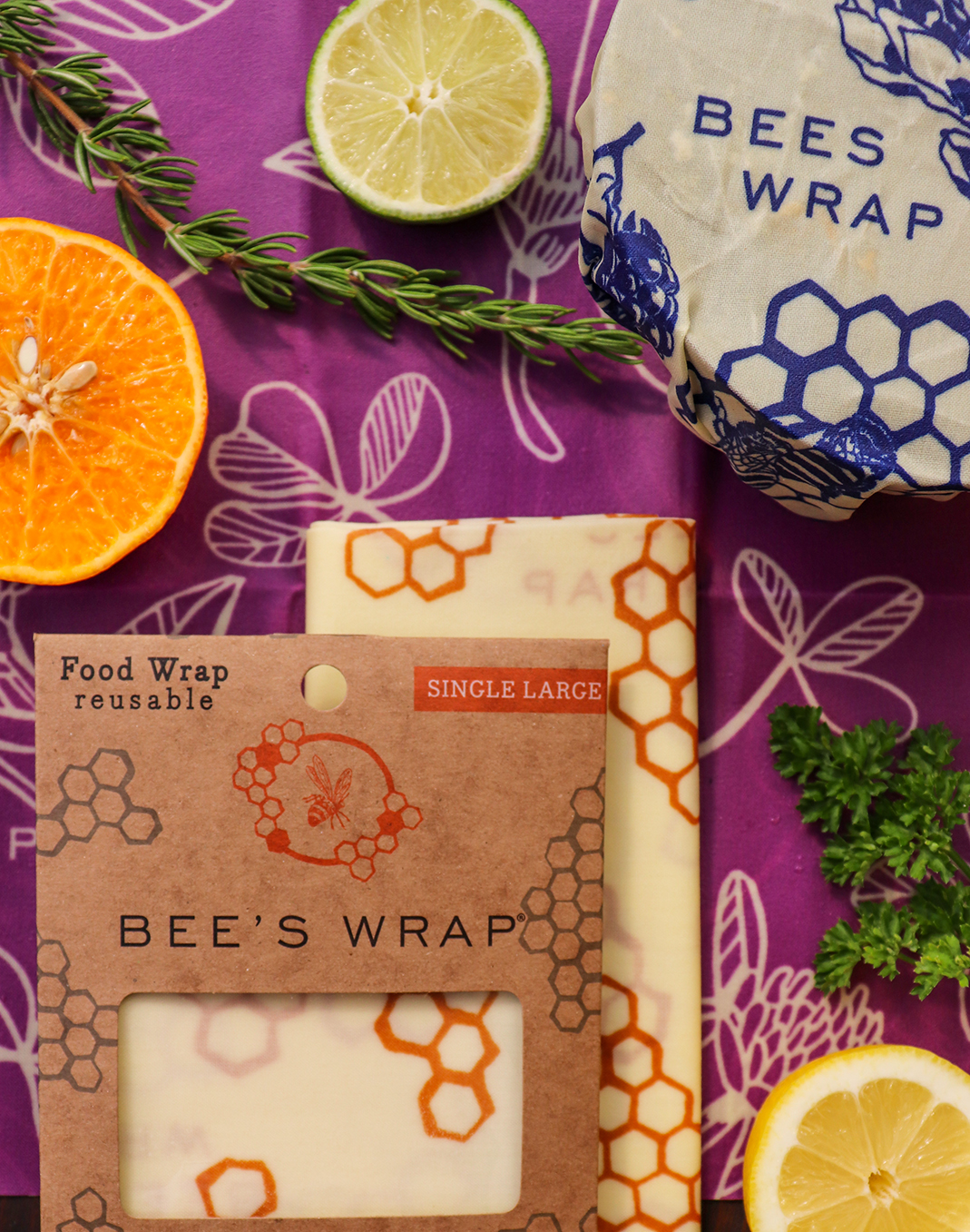 Bee's Wrap® Single Large Sheet- Honeycomb Print
