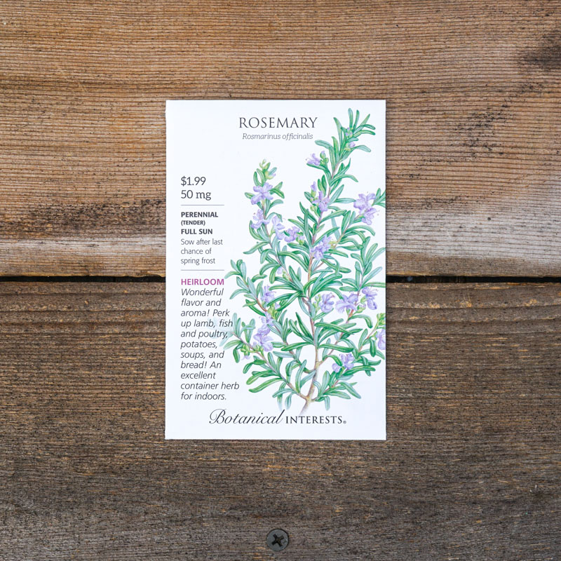 rosemary seed packets