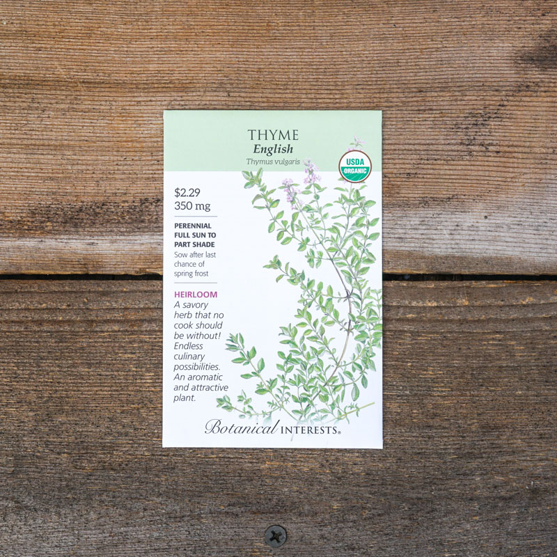 Thyme seed packet