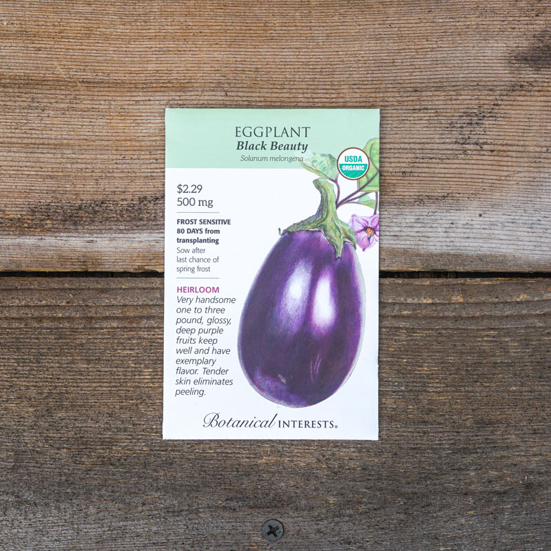 Eggplant seed packets