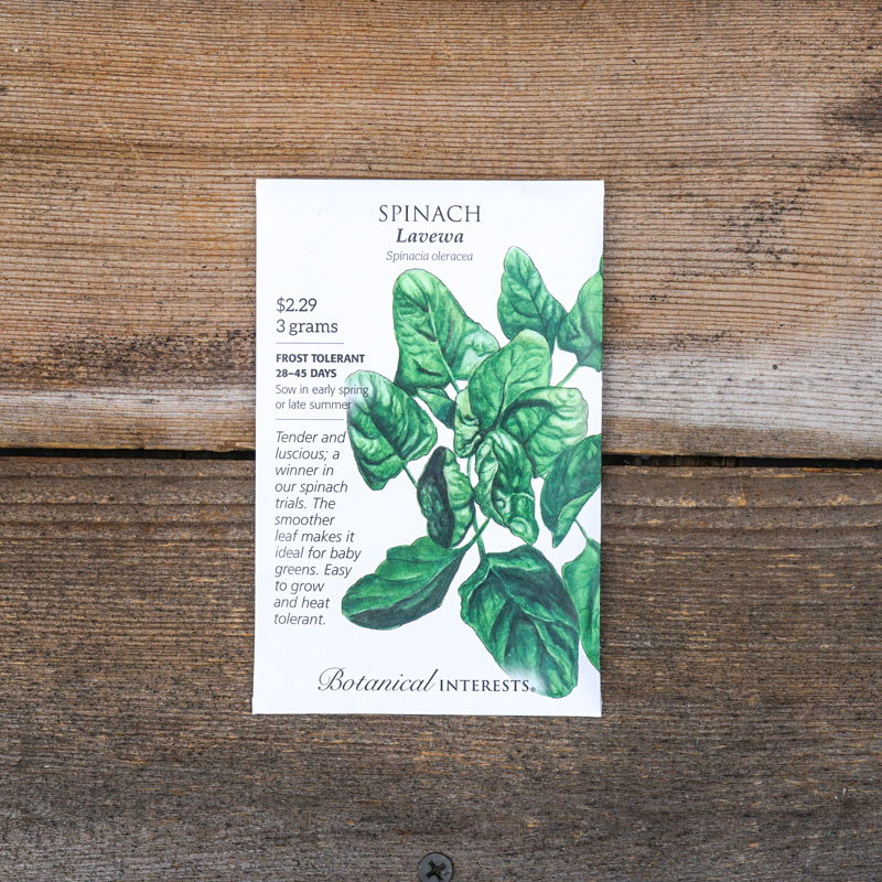 Packet of Spinach Seeds