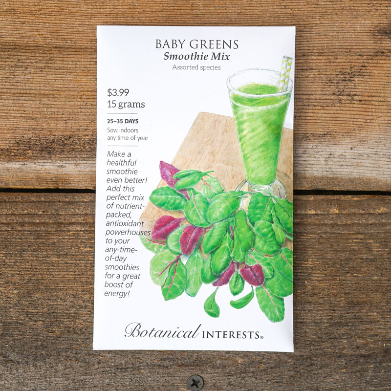 baby greens smoothie mix seeds
