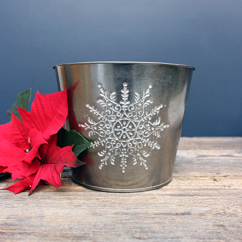 Pot Cover Bronze with Snowflake