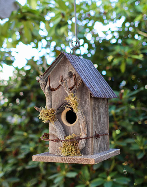 Folk Art Twig Birdhouse