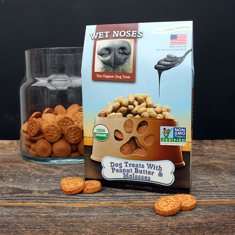 Wet Noses Dog Treats - Peanut Butter Molasses