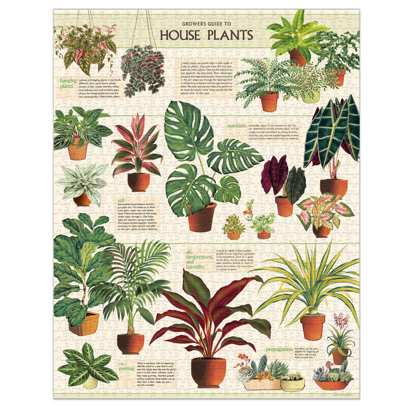 Cavallini & Co ® 1000 Piece Puzzle - Houseplants