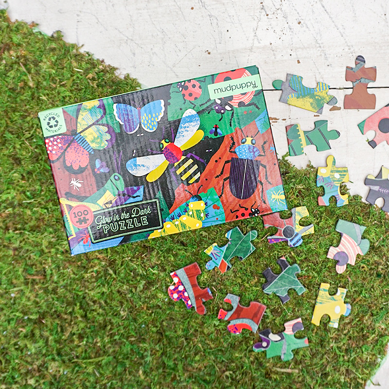 100 Piece Glow in the Dark Insect Puzzle