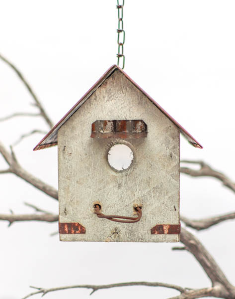 Small Perch Birdhouse - White