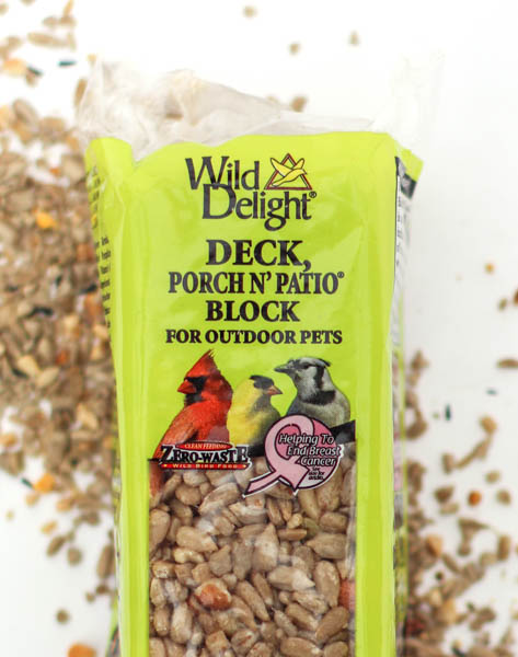 Deck, Porch & Patio Bird Seed Block